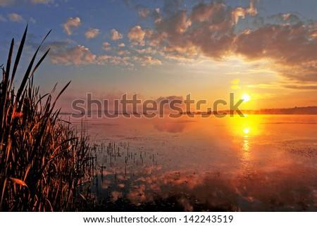 Beautiful lake landscape 7 - stock photo