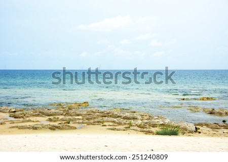 Beautiful Lake Malawi on a Clear Summers Day - stock photo