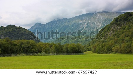 beautiful landcape of the alps taken in Slovenia