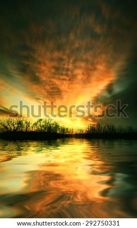 Beautiful landscape. - stock photo