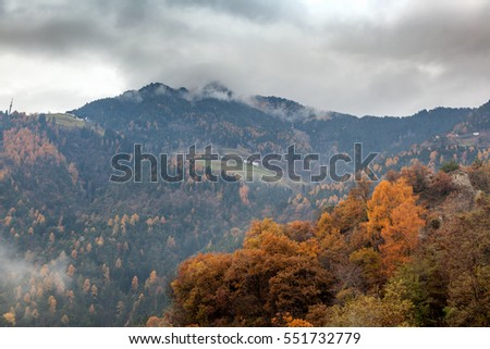 Beautiful landscape, Alpine mountains, Italy, South Tyrol, Meran