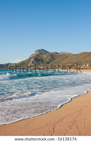 Beautiful landscape at Falasarna beach in Crete, Greece - stock photo