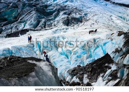 Beautiful landscape at Franz Josef Glacier. West Coast, South Island, New Zealand. - stock photo
