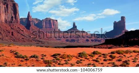 Beautiful landscape at Monument Valley, Arizona, usa - stock photo
