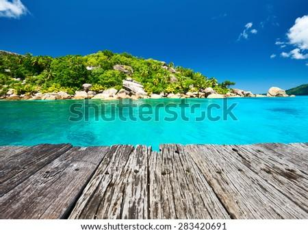 Beautiful landscape at Seychelles, La Digue - stock photo