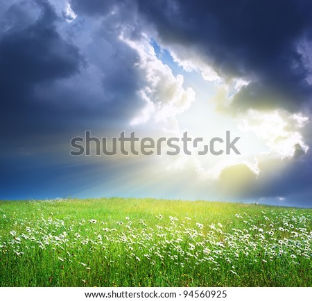 Beautiful landscape. Composition of nature. - stock photo