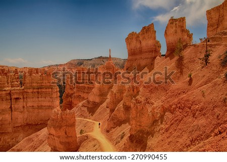 Beautiful landscape from Bryce Canyon National Park in Utah, USA - stock photo