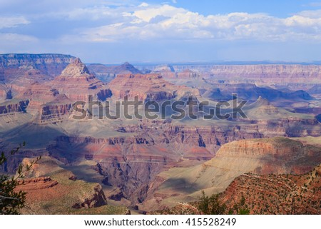 Beautiful Landscape from Grand Canyon National Park, Arizona. USA panorama. Geological formations - stock photo