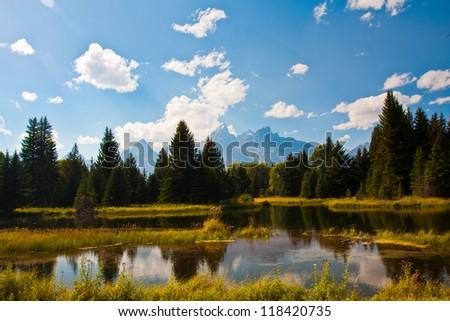 Beautiful Landscape in Grand Teton National Park - stock photo