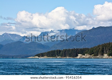 Beautiful Landscape in Juneau, Alaska - stock photo