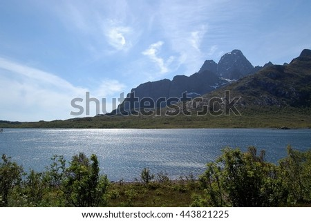 Beautiful landscape in Lofoten.