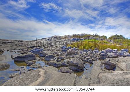 Beautiful landscape in southern Norway, Justoy, Lillesand