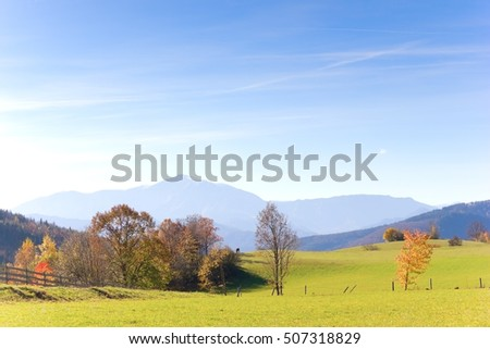 Beautiful landscape in the fall time