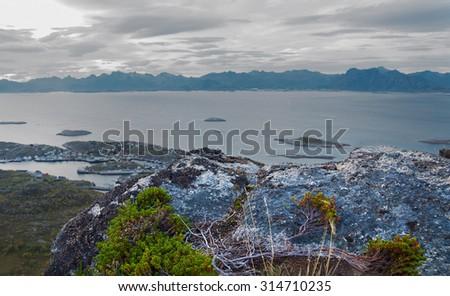 Beautiful landscape Lofoten Islands - stock photo