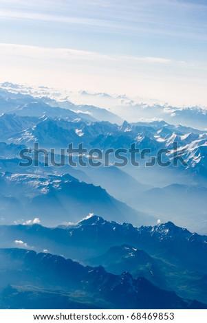 beautiful landscape mountain - stock photo