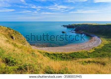 Beautiful landscape of hill and rock at Stoneheave area, Aberdeen Scotland, UK - stock photo
