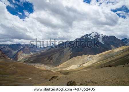 Beautiful landscape of Himalayas mountains. India, Ladakh