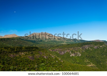 Beautiful landscape of Hogsback mountain in South Africa - stock photo