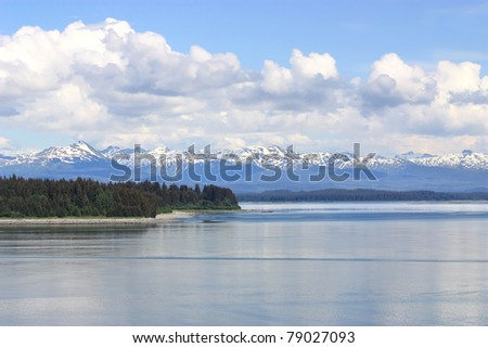 Beautiful landscape of Inside Passage, Alaska - stock photo