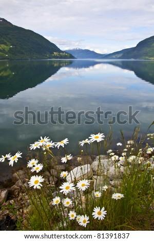 Beautiful landscape of Norway - stock photo