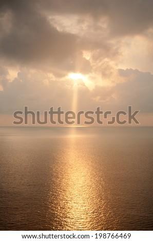Beautiful landscape of sunrise over the sea. - stock photo