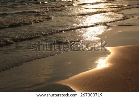 beautiful landscape of Sunset over the sea  - stock photo