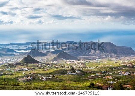 Beautiful landscape of Tenerife, Canary Islands. Spain - stock photo
