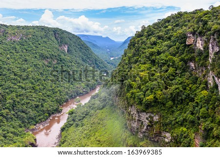 Beautiful landscape of the nature of the Kaieteur National Park, Guyana, South America - stock photo