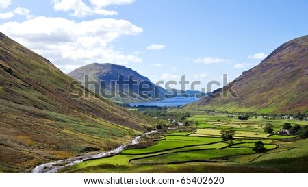 Beautiful landscape of Wasdale head in the Lake district area in England