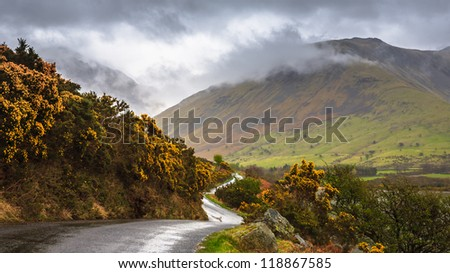 Beautiful landscape of Wast water, Lake District, Cumbria, England - stock photo