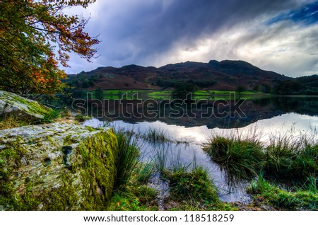 Beautiful Landscape on an Autumn day at Rydal Water in the English Lake District
