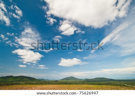 Beautiful landscape on mountain - stock photo
