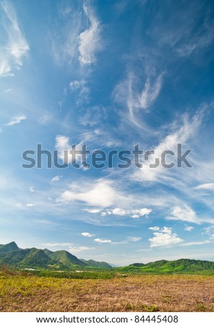Beautiful landscape on mountain - stock photo