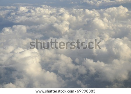 beautiful landscape outdoor in nature with white clouds - stock photo