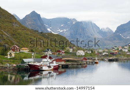 Beautiful landscape scenery of northern Norway, Lofoten.