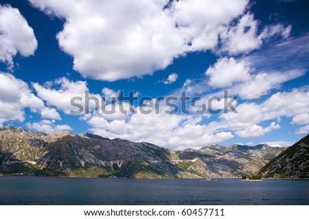Beautiful landscape shot of Kotor Bay in Montenegro. - stock photo