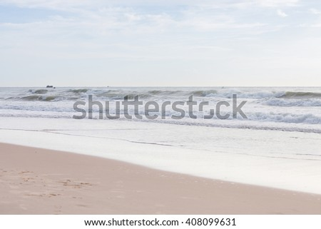 beautiful landscape summer sea with clean sand beach