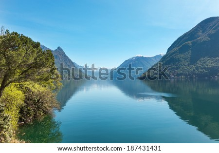 beautiful landscape, Switzerland, Lake Lugano