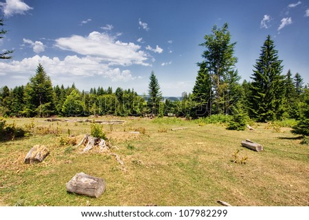 Beautiful  landscape the mountain - stock photo