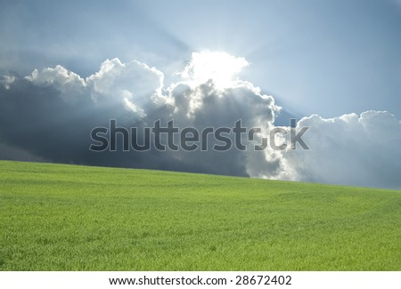 Beautiful landscape view perfect for background