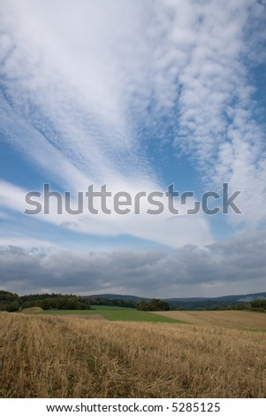 beautiful landscape with abstract cloud