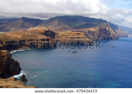 beautiful landscape with the ocean on Maderia island