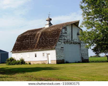 beautiful large white barn