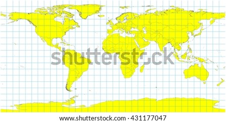 Beautiful large world map illustration yellow ilustracin en stock beautiful large world map illustration yellow country polygons with no country names grid lines gumiabroncs Gallery