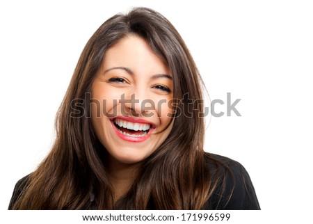 Beautiful laughing woman  - stock photo