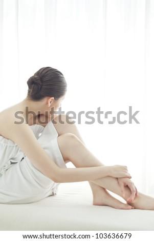 Beautiful leg of the woman - stock photo