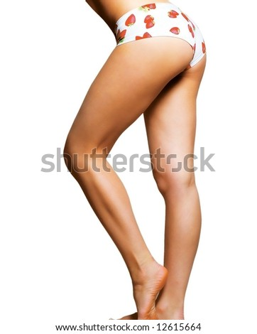 beautiful legs of the girl - stock photo