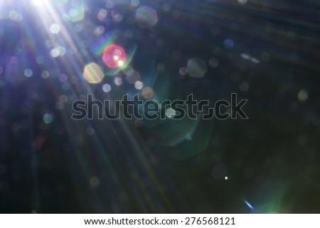 beautiful lensflare. - stock photo