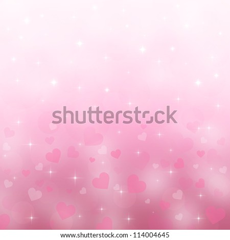 Beautiful light background to the Valentine's day - stock photo