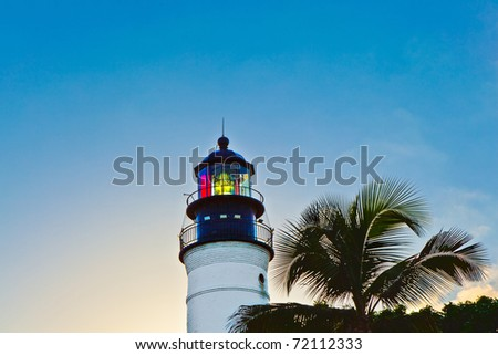 beautiful lighthouse from Key West in Florida - stock photo